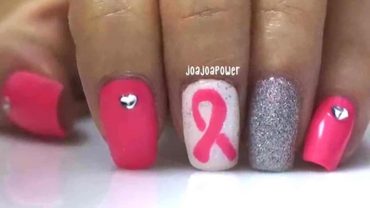 Nail Art Pink Ribbon Nails Breast