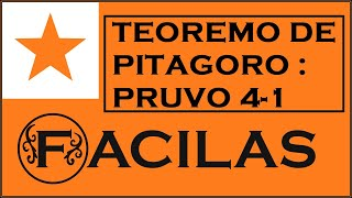 TEOREMO DE PITAGORO : PRUVO 4-1 (ESPERANTO)