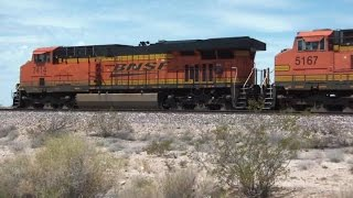 Railfanning the BNSF Needles Sub in August 2015 Part 2 HD