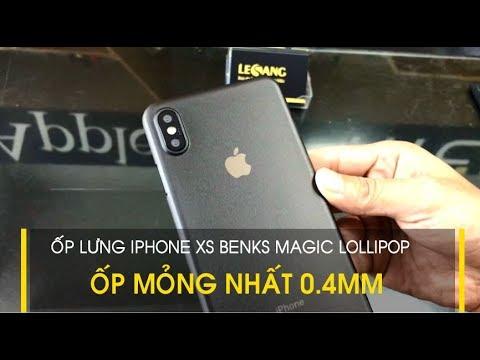 LÊ SANG | Ốp lưng iPhone XS Max mỏng nhất Benks Magic Lollipop 0.4mm, như 1 tờ giấy