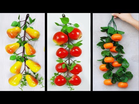 Artificial Apple,Orange,Pears Making // DIY ROOM DECOR //5 Minutes Crafts Ideas at Home