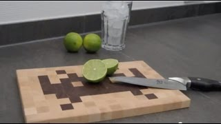 How To Build A Nerdy Space Invader Cutting Board - Invading Your Kitchen