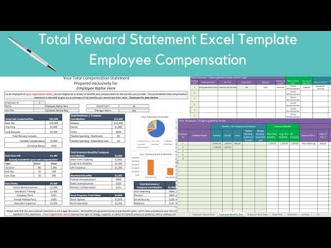 Total Rewards Statement Excel Template, Employee Compensatio - YouTube