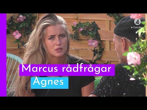 Agnes hjälper Marcus efter dubbelhånglet I Love Island Sverige 2018 (TV4 Play)