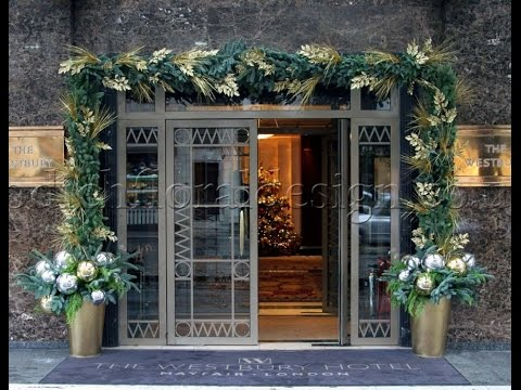 Christmas Flower Displays for Luxury Hotels and Restaurants