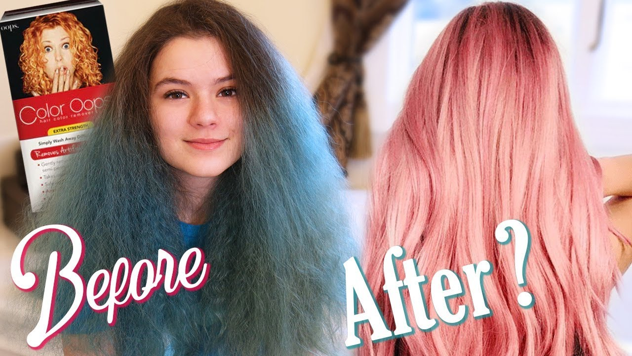 Dying my Teal Hair Pink Myself! Color Opps hair color removal at ...