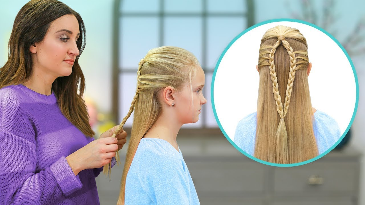 How To Create A Mermaid Loop Braid Easy Braided Hairstyles Youtube