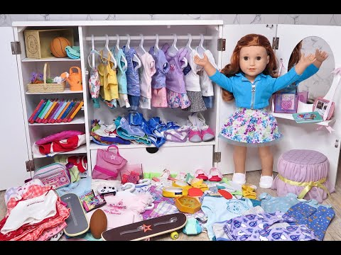 American Girl Doll Messy Closet Disaster ~ Closet Cleaning Tour!!
