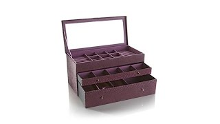 "Prestige DragonEmbossed ""Deluxe Everything"" Jewelry Box"