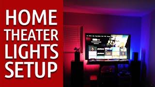 Home Theater LED Lights Setup