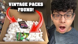 I FOUND VINTAGE BOOSTER PACKS IN THIS POKEMON MYSTERY BOX OPENING! *insane*