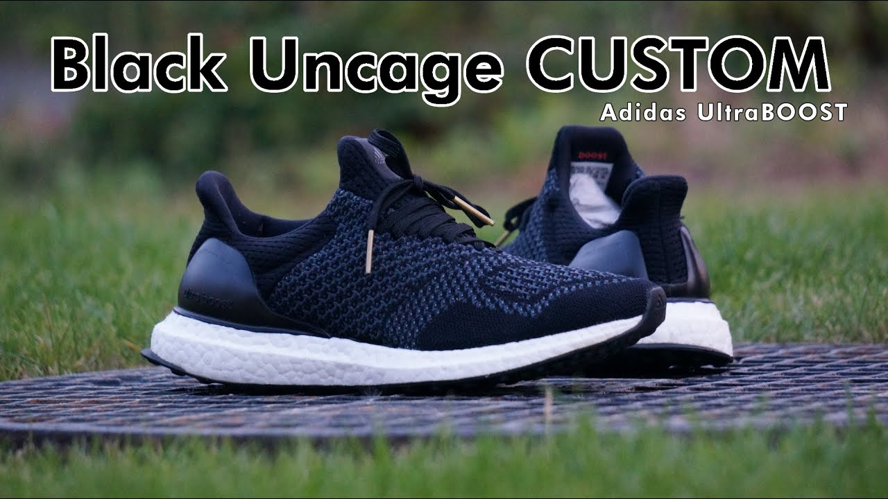 03b1fb4406ca1 PORADNIK TUTORIAL  Adidas UltraBoost Black Uncage Custom! - YouTube