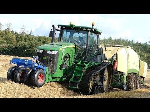 John Deere 8360RT Baling Big Bales w/ Krone BigPack 1290 HDP XC | Danish Agriculture