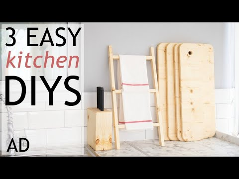 3 Easy DIY Kitchen Woodworking Projects | AD | The Carpenter's Daughter