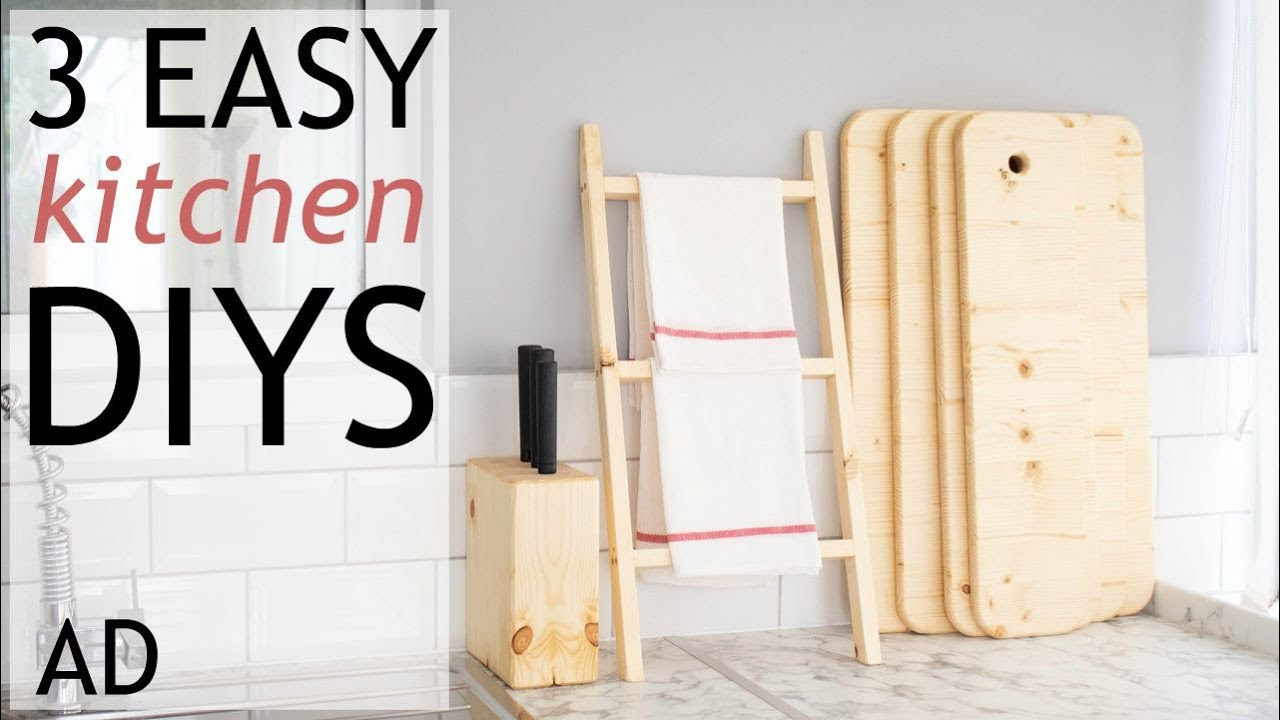 3 Easy Diy Kitchen Woodworking Projects Ad The Carpenters Daughter