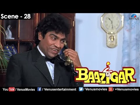Johnny Lever on the phone Baazigar