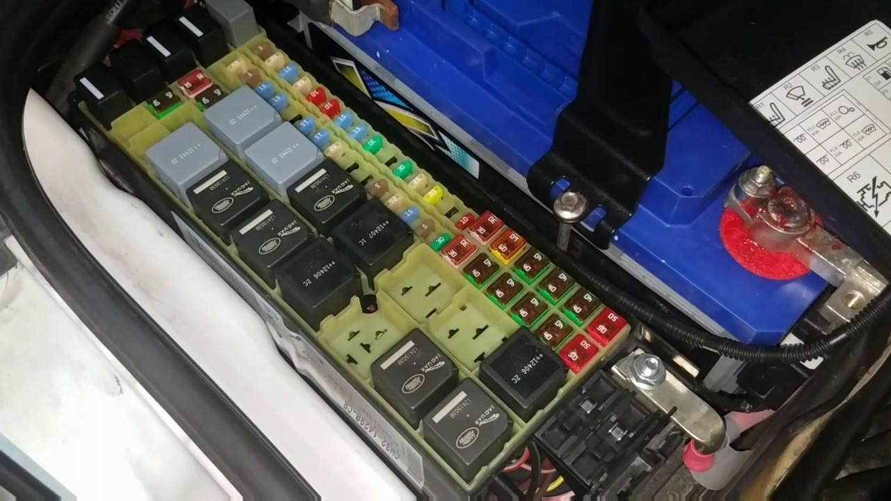 2014 range rover sport fuse box