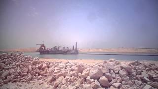 قناة السويس الجديدة تكريك 77%من الرمال المشبعة بالمياه