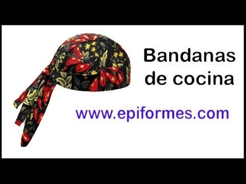 Ropa cocina original bandanas gorros en general youtube for Chaquetas de cocina originales