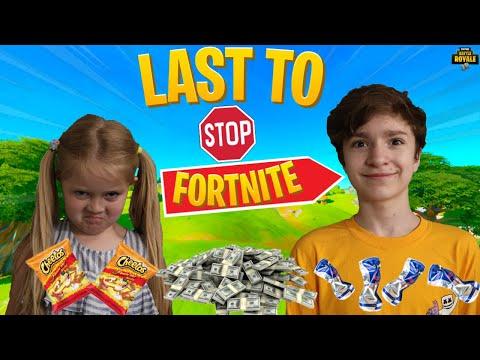 LAST TO STOP Playing FORTNITE Wins 10,000 V-BUCKS!! *Siblings Challenge*