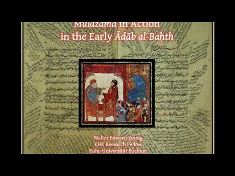 Mulāzama in Action in the Early Ādāb al-Baḥth