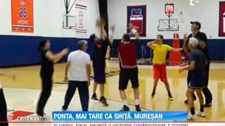 Victor Ponta a jucat baschet cu Ghita Muresan