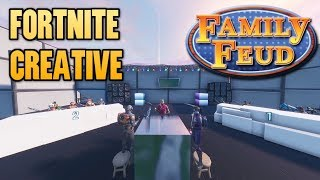 FAMILY FEUD IN FORTNITE CREATIVE MODE! Fortnite Family Feud Funny Moments (Squeaker Edition)
