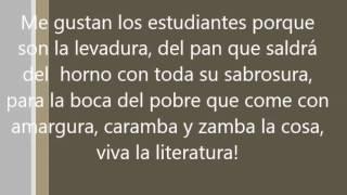 ME GUSTAN LOS ESTUDIANTES MERCEDES SOSA LETRA