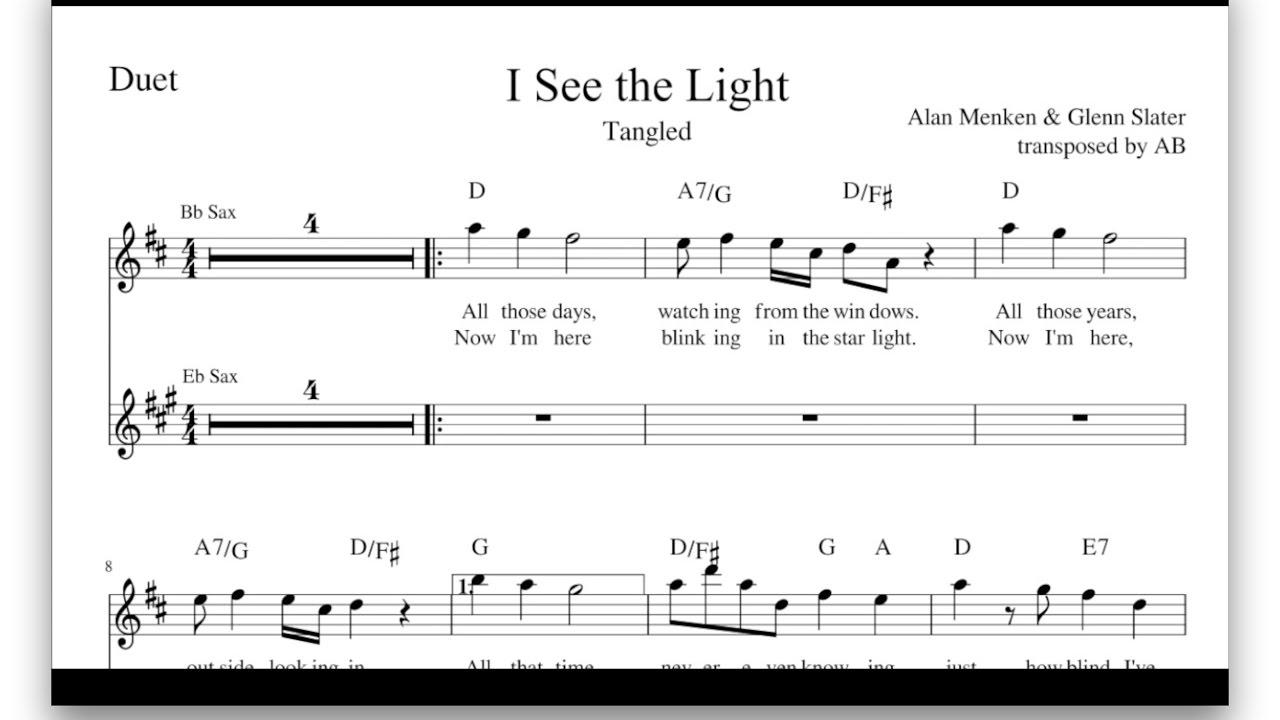 I see the light tangled saxophone duet sheet music pdf i see the light tangled saxophone duet sheet music pdf lyrics chords hexwebz Image collections