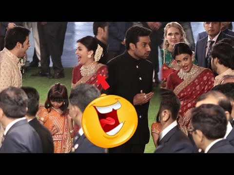 Aishwarya Rai Bachchan LOL Moment with Akash Ambani and  Anant Ambani | Isha Ambani Wedding