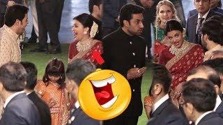 Aishwarya Rai Bachchan LOL Moment with Akash Ambani and  Anant Ambani | Isha Ambani Wedding
