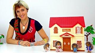 Виладж стори. Дом для ежиков. Распаковка. Видео для детей.