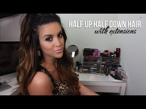 Half Up Half Down Hair With Extensions Youtube