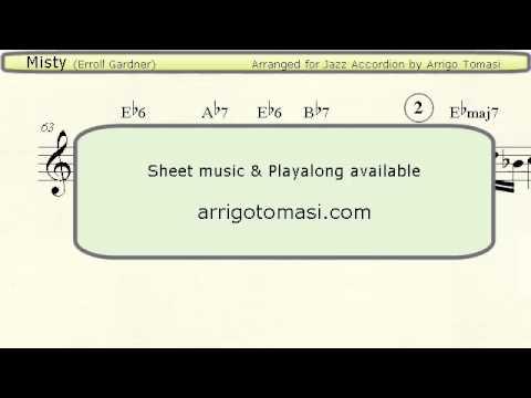 Misty  Jazz Accordion Sheet Music