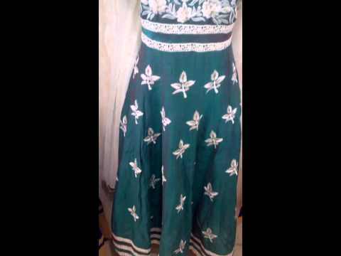 Designer Anarkali dress best party wear collection