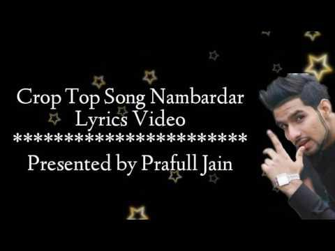 Crop Top Lyrics Video Song  | Nambardar | Jaymeet
