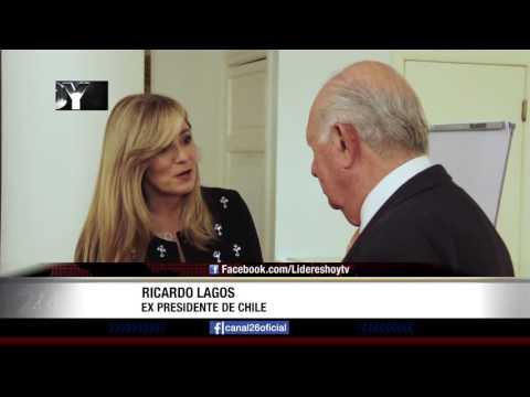 """Entrevista de """"Líderes Hoy"""" a Ricardo Lagos y Rebeca Grynspan"""