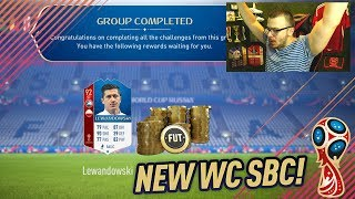 FIFA 18 NEW WORLD CUP NATIONS SBC! WE COMPLETE THE BEST WORLD CUP SBC LEWANDOWSKI