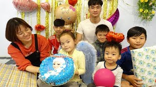 Happy Birthday Cakes from Misa 6 year old, Surprise Birthday Party with Kids Songs Nursery Rhymes