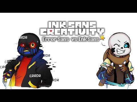 Ink Sans Creativity [Error Sans vs Ink Sans] (Undertale Comic Dub)