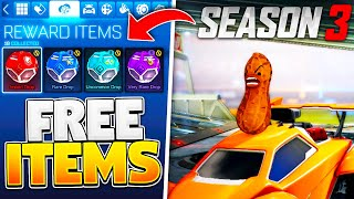 ALL FREE ITEMS On Rocket League In Season 3!