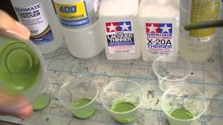 ep72 - testing thinners with model master acryl