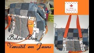 PAP – Bolsa Baú Versátil em Jeans – Parte 01 – Série jeans