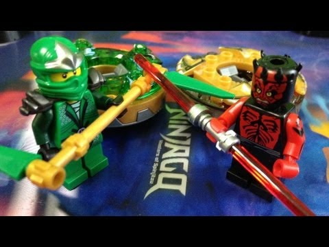 Lego green ninja vs darth maul ninjago spinner battle youtube - Ninjago vs ninjago ...