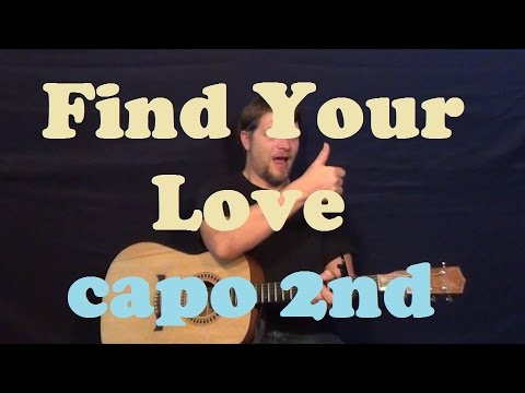 Find Your Love (Drake) Easy Guitar Lesson How to Play Strum Chords Tutorial