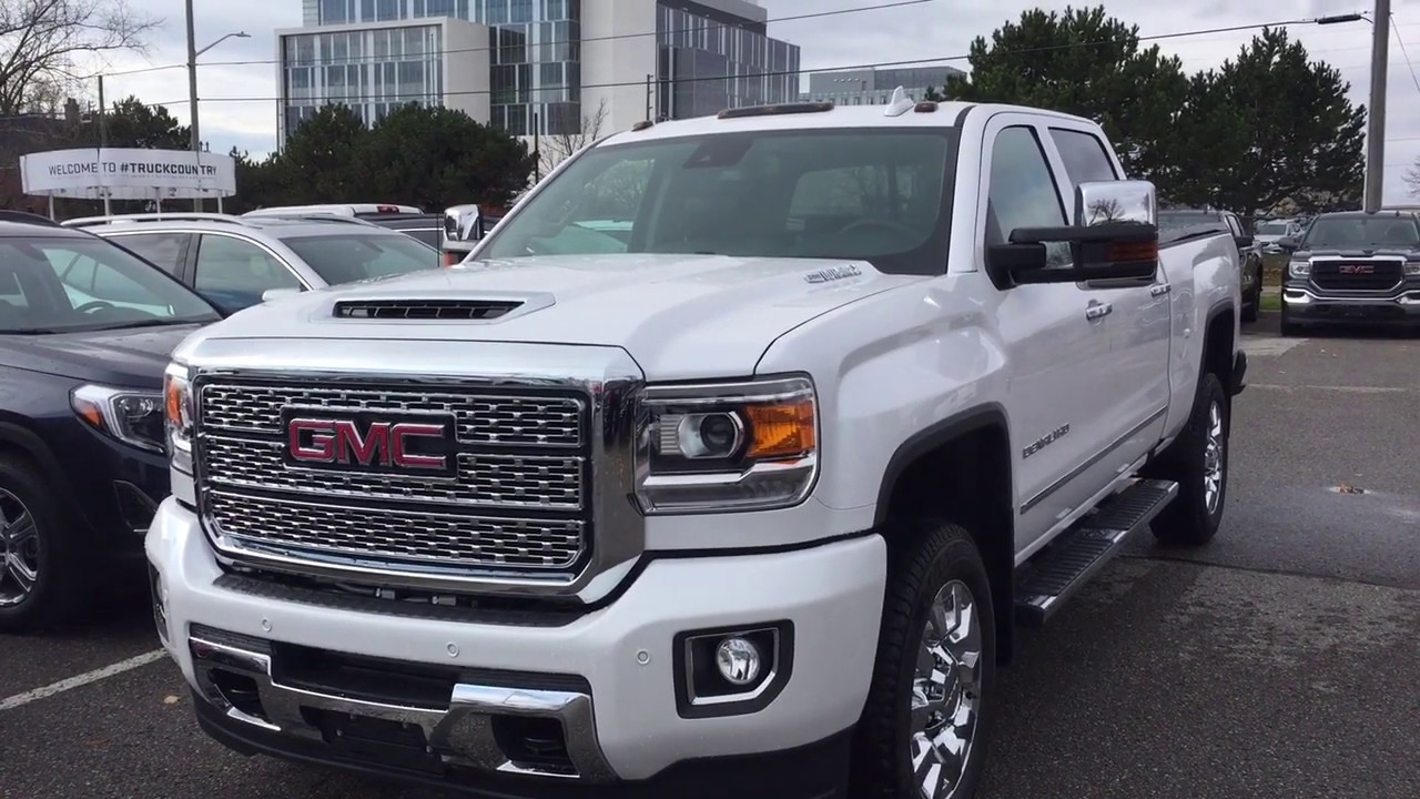 2019 Gmc Sierra 2500hd Denali 5th Wheel Gooseneck Prep 6 6l Duramax Diesel Oshawa On Stock 190162