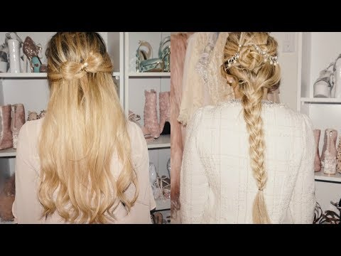 My 3 favorite girly hairstyles (tutorial) + i went back to blonde hair