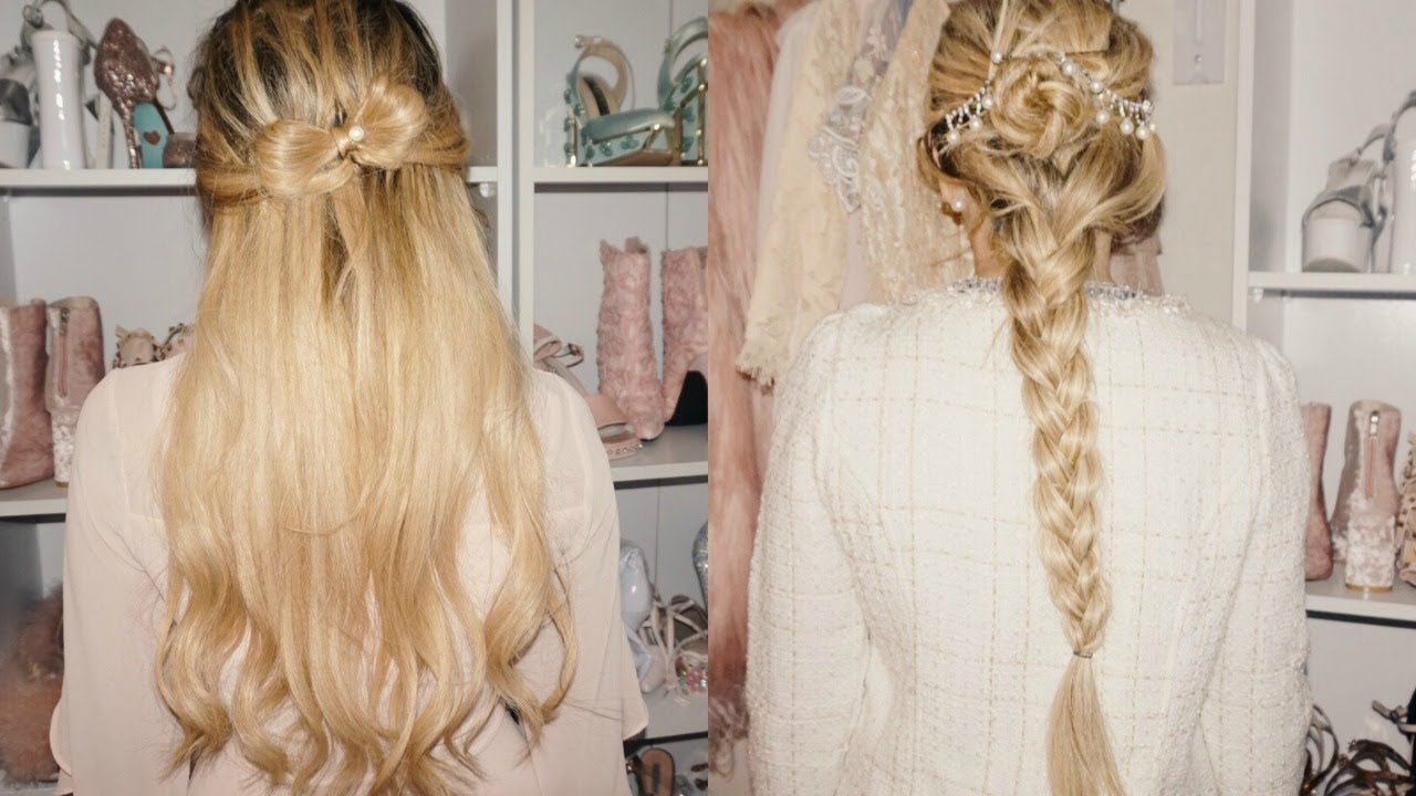 My 3 favorite girly hairstyles tutorial i went back to blonde my 3 favorite girly hairstyles tutorial i went back to blonde hair urmus Images