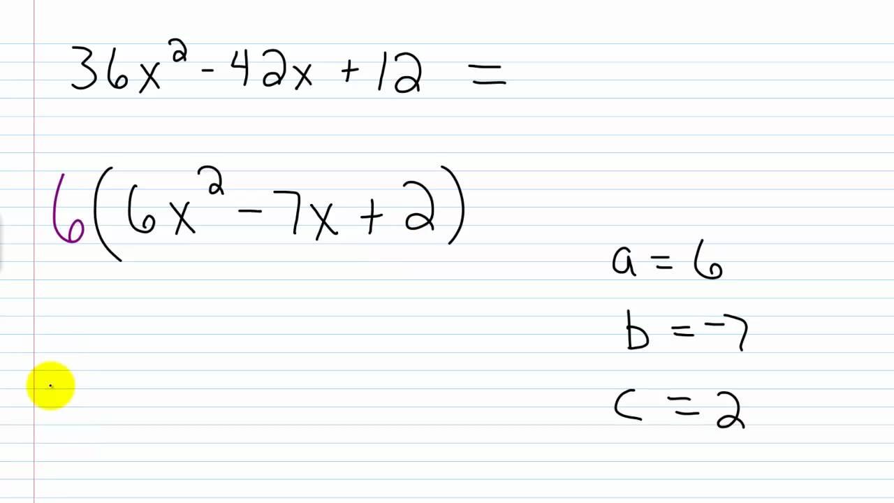 worksheet Factoring Trinomials A 1 algebra i help factoring practice trinomials ii leading coefficient not 1