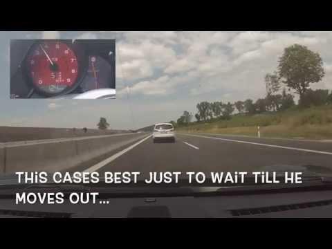 257KM/H Porsche 911 Carrera GTS 991 FAST AUTOBAHN DRIVE (160M/H)
